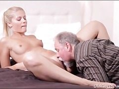 old young,pussy eating,small baps