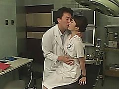 Cosplay takes place in a hospital. Everybody wants to bang a pretty asian female patient. They penetrate her pussy with sex toys, perform titillating unload until she's totally weary