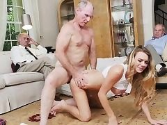 Super-steamy babe Molly Mae surprised in a foursome fuck