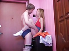 Younger college girl blondie plumbed from behind