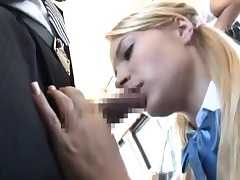 Girl give BBJ & got plumbed to multiple orgasm on bus