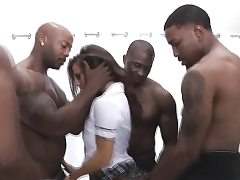 Big dark-hued man meat in bigtits every hole
