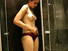 Natural Tits Indian Lady Jasmine Taking Shower