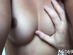 Sweetheart with a slim body and titties fucks like a slut