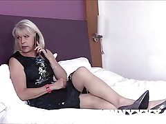 Dirty Old Granny Girl Sextasy Fucks Toyboy in Stockings!
