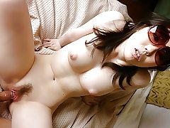 Japanese brunette, Chika Aratani is getting plumbed at home,