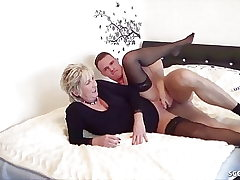 GERMAN STEP SON CAUGHT MOTHER wank and help with Fuck