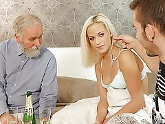 DADDY4K. Naughty father dragged son's girl into unexpected...