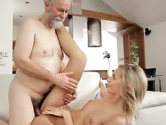 Mature guy ravages fantastic wifey in elder and youthful movie