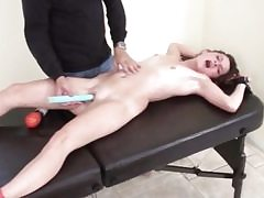Junior biotch slut gets kittled in bondage