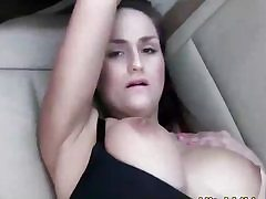 Stellar babe torn up by a cock on the back seat of the car rock-hard