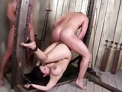 Mischievous big titted Asian milf nailed raunchy in a nasty 3 way