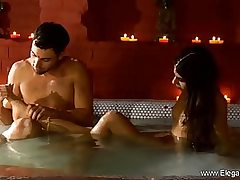 Sumptuous man is about to have a voluptuous bang-out session with an exotic Indian lady